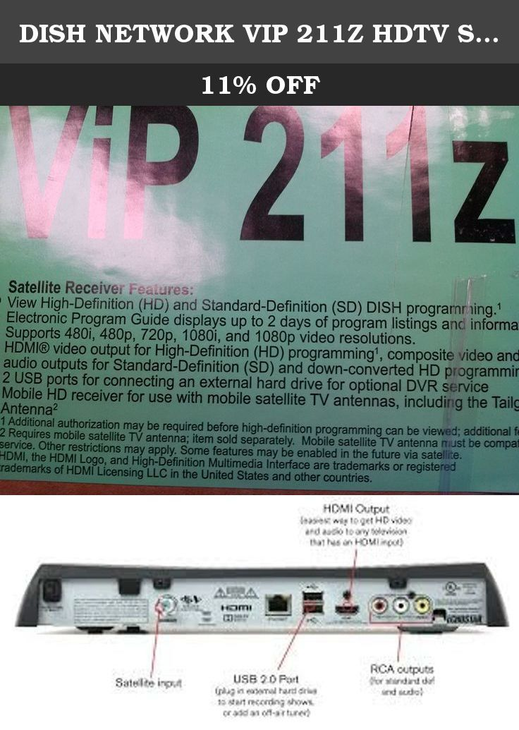 dish network vip 211z hdtv satellite receiver