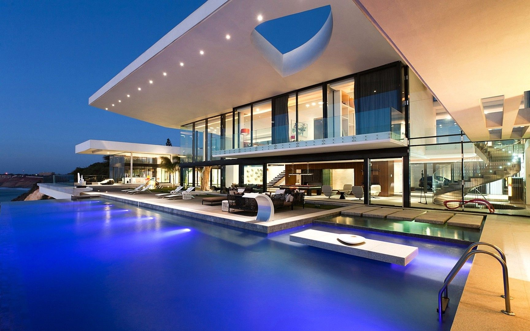 Awesome modern house with pool pool viewdecor