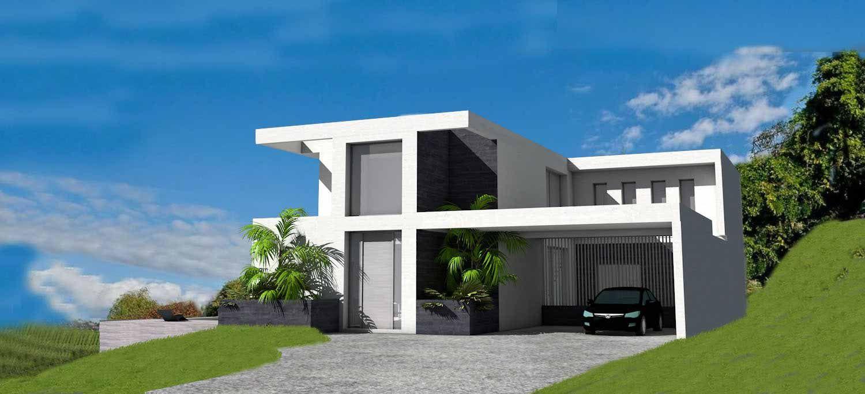 Villa D Architecte Contemporaine Sur Terrain En Pente Avec Piscine A Debordement Piscine A Debordement Architecte Plan Maison