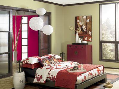 bedroom color schemes case plus | Behr Premium Plus paint color in Tea Bag | Orange bedroom ...