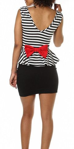 Sassy Bow Back Peplum Top | ShooeTherapy