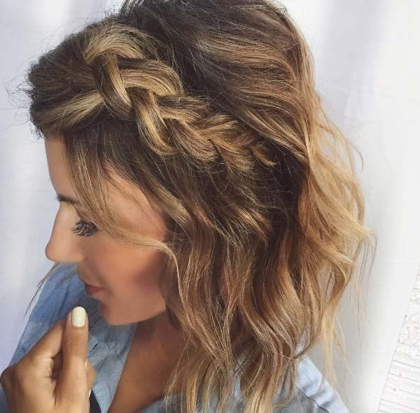 Hairstyles For Prom For Short Hair 50 Façons Pour Tresser Vos Cheveux Courts  Short Braids Hair Style