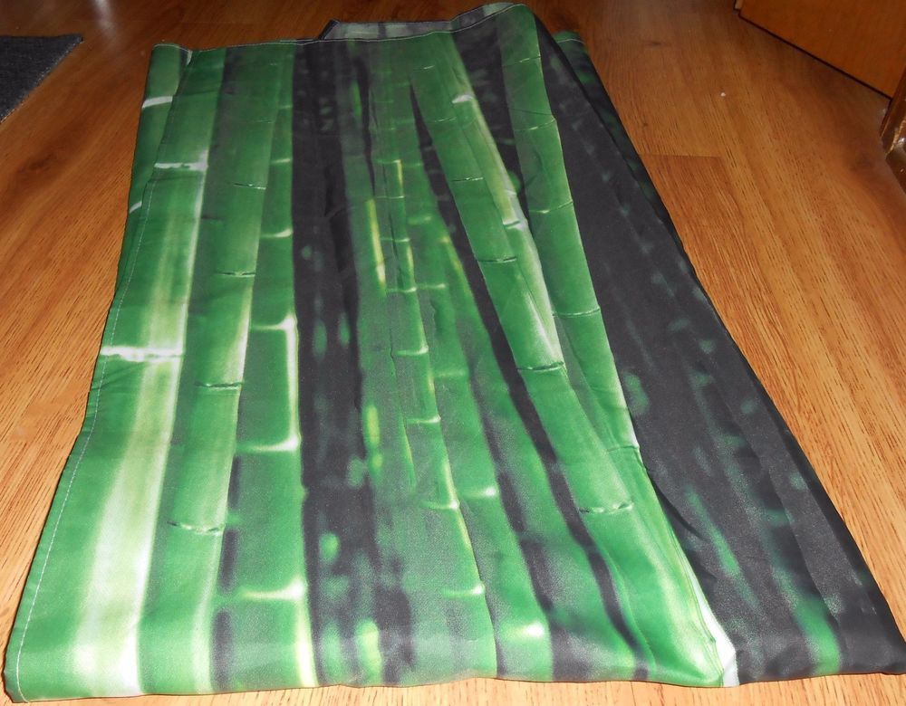 "Shower Curtain Bathroom Waterproof Kikkerland Bamboo Forest 72 x 72"" Bath Home #Kikkerland"