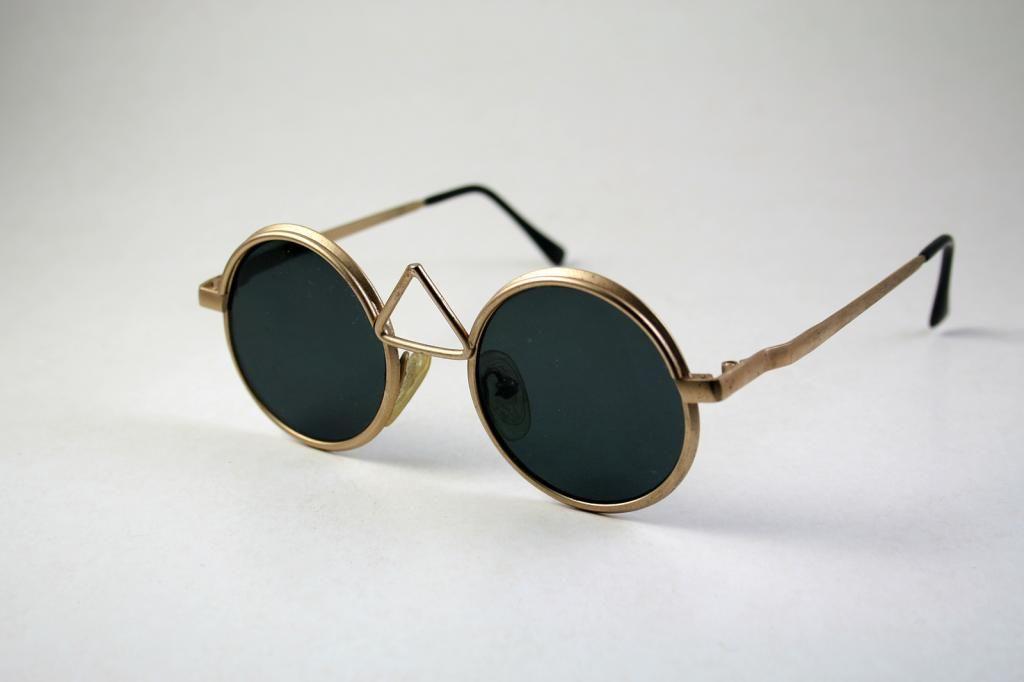 72d1638381 round sunglasses gold metal polarized lenses Hi Tek MOD-4009-1