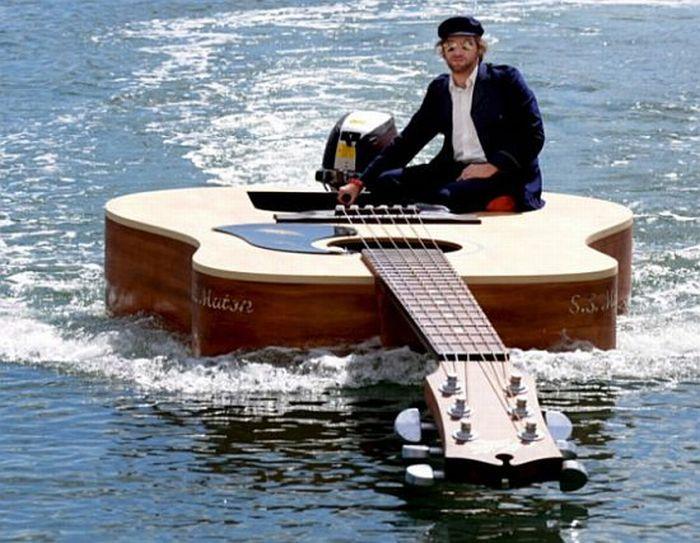Guitar Boat....Freaking RAD
