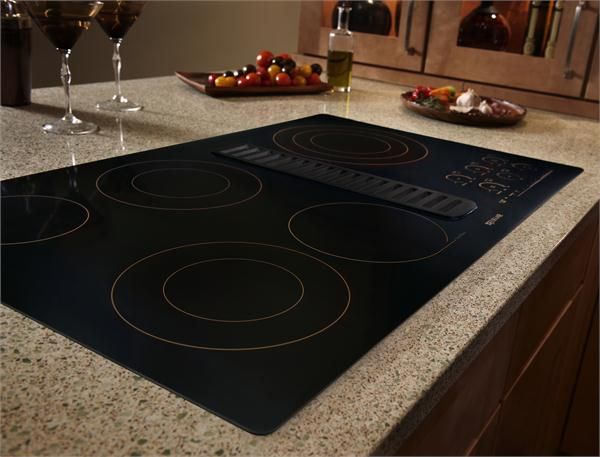 Jenn Air 36 Electric Radiant Downdraft Cooktop With Electronic