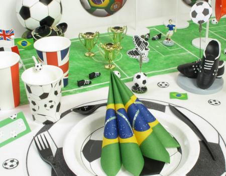 anniversaire enfant d co foot id e d co pour les anniversaires birthday football et table. Black Bedroom Furniture Sets. Home Design Ideas