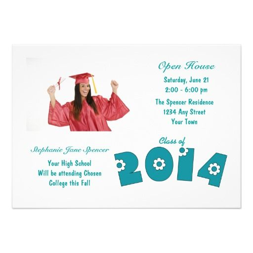 Teal Flowers Photo 2014 Graduation Invitations Yes I can say you are on right site we just collected best shopping store that haveThis Deals          Teal Flowers Photo 2014 Graduation Invitations Review from Associated Store with this Deal...