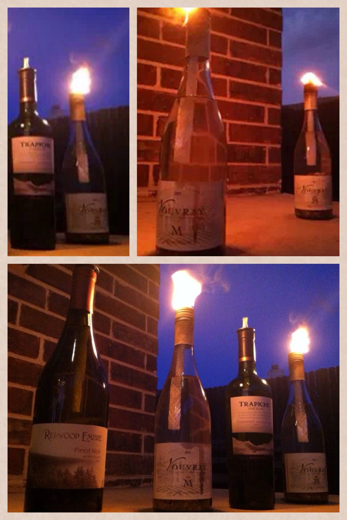 Easy To Make Citronella Oil Lanterns Fill Clean Wine Bottle With Decorative Stones Fill With Oil Insert Wick Into Bottles Decoration Oil Lantern Wine Bottle