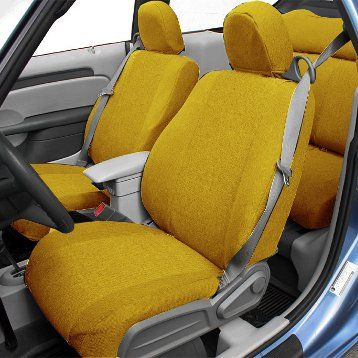 yellow-insert-and-trim tweed | CalTrend Products | Pinterest | Seat
