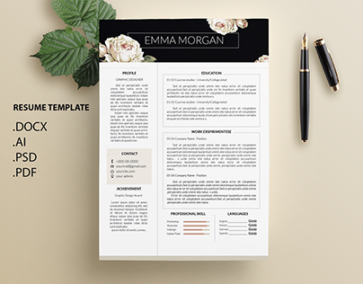 Check Out New Work On My Behance Portfolio White Rose Resume