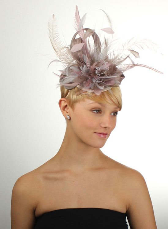 Heather Fascinator For The Mother Of Bride