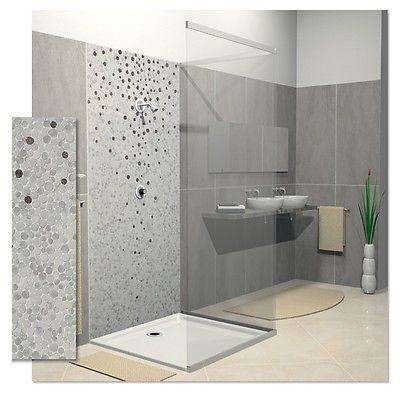 Mosaico doccia sassi gres porcellanato mosaico bagno cm 30x30 mosaico pinterest - Bagno gres porcellanato ...