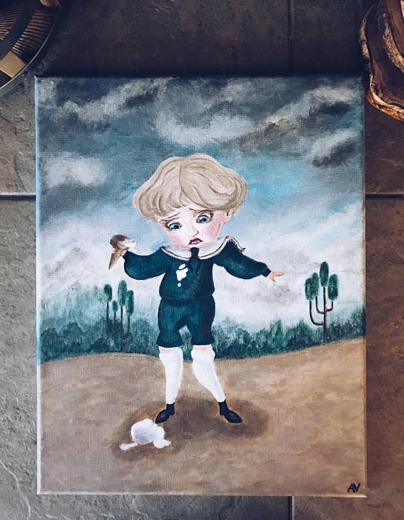 Acrylic Reproduction Of Painting Boring Blue Boy Etsy In 2020 Coraline Art Coraline Aesthetic Art