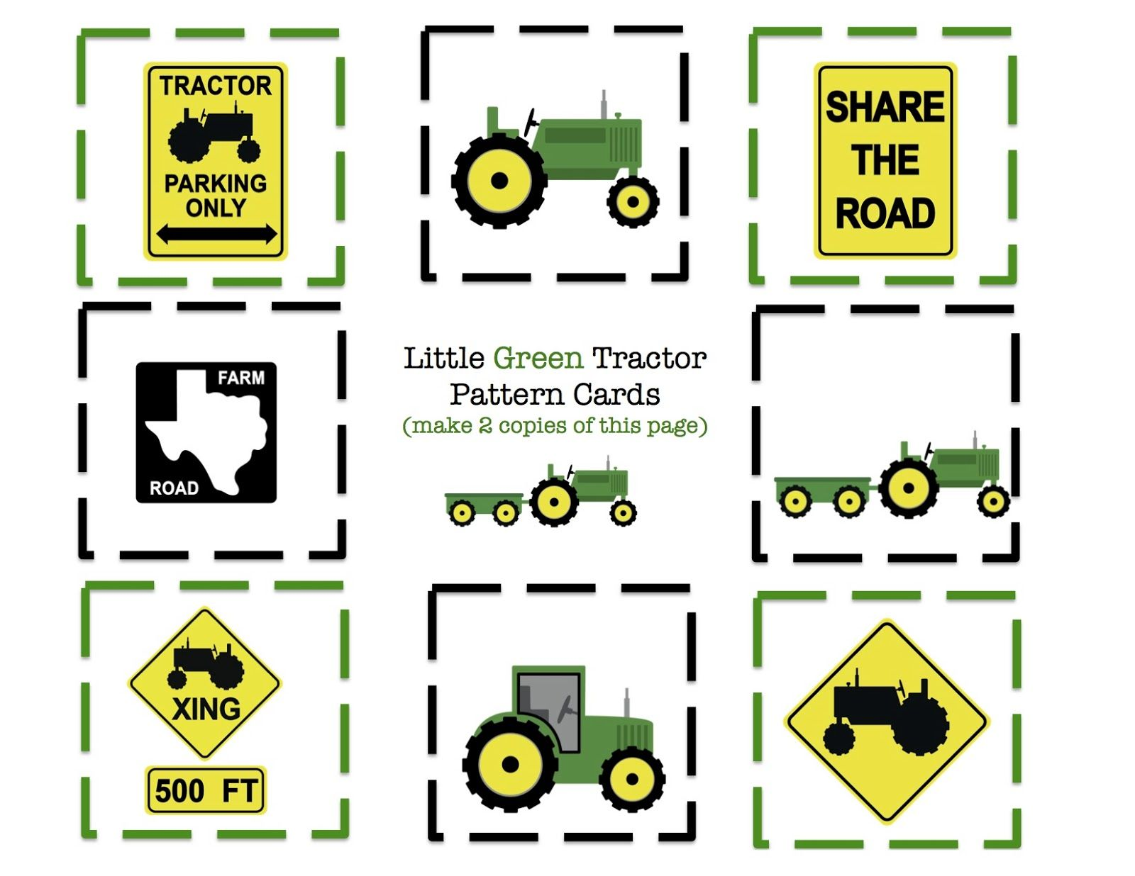 tractor printable ~ cut, craft and use for cupcake toppers {*For A ...