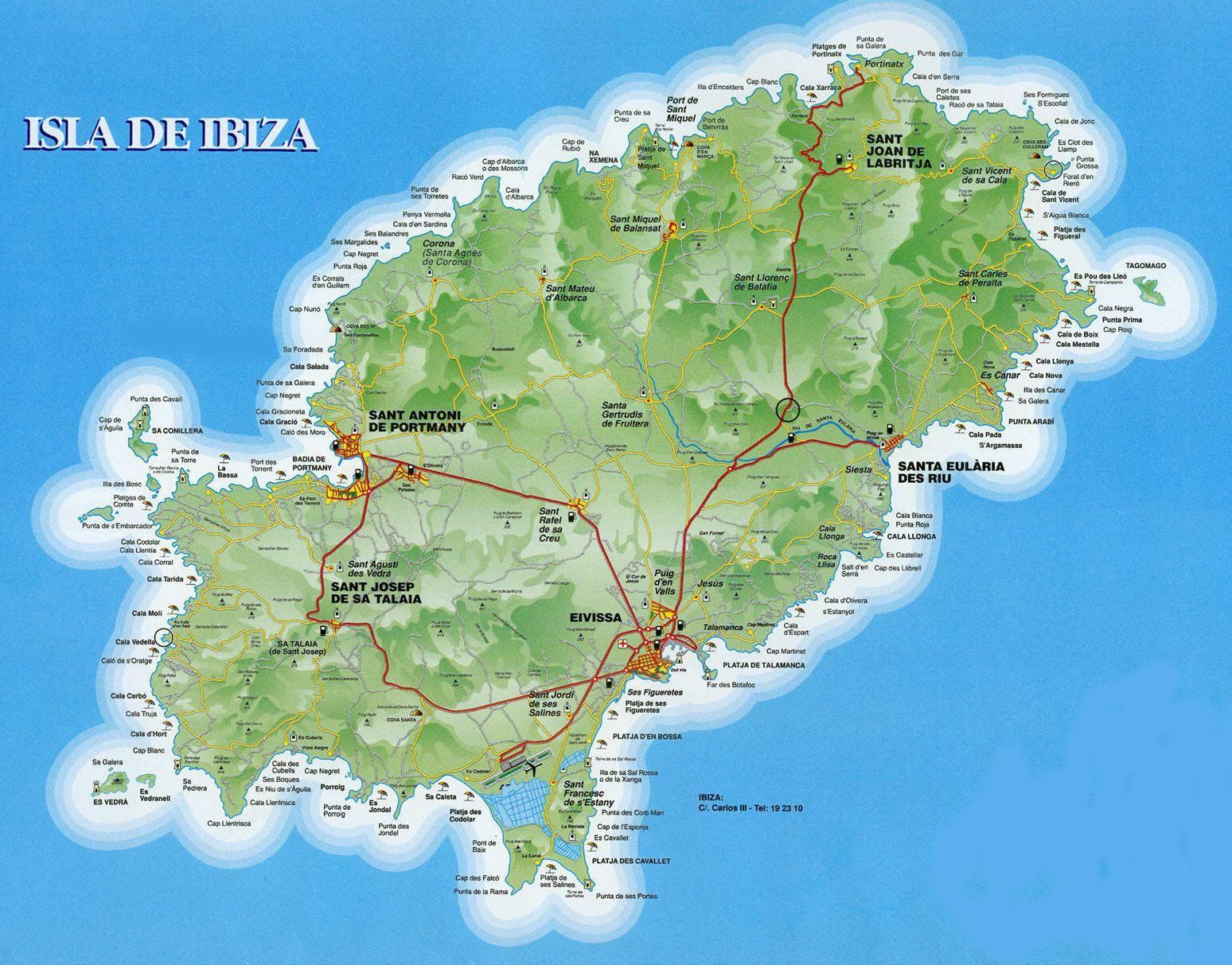 Ibizamapa IbizyIbizamap of Ibizamapa de Ibiza Balearic Islands