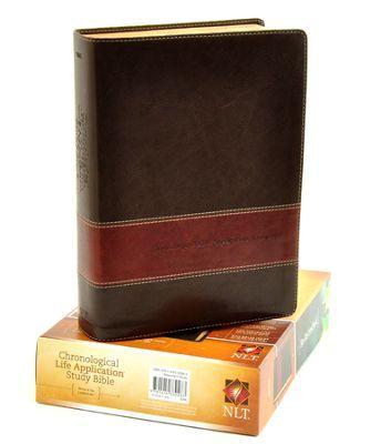 Nlt Chronological Life Application Study Bible Leatherlike Brown Tan Life Application Study Bible Life Application Bible