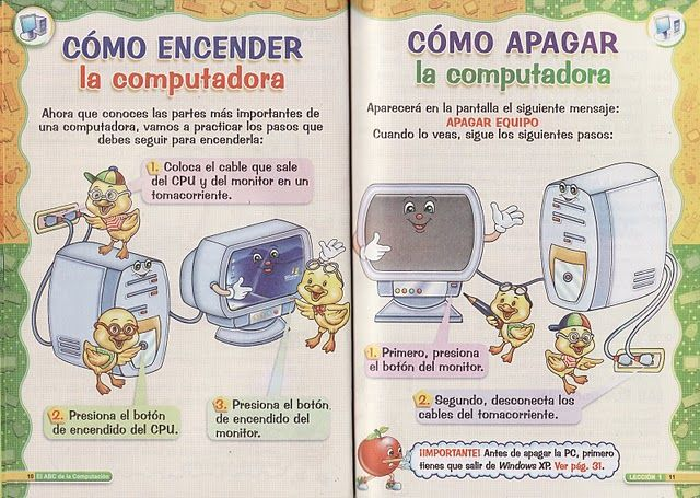 Como Encender Y Apagar La Computadora Technology Lessons Abc Education