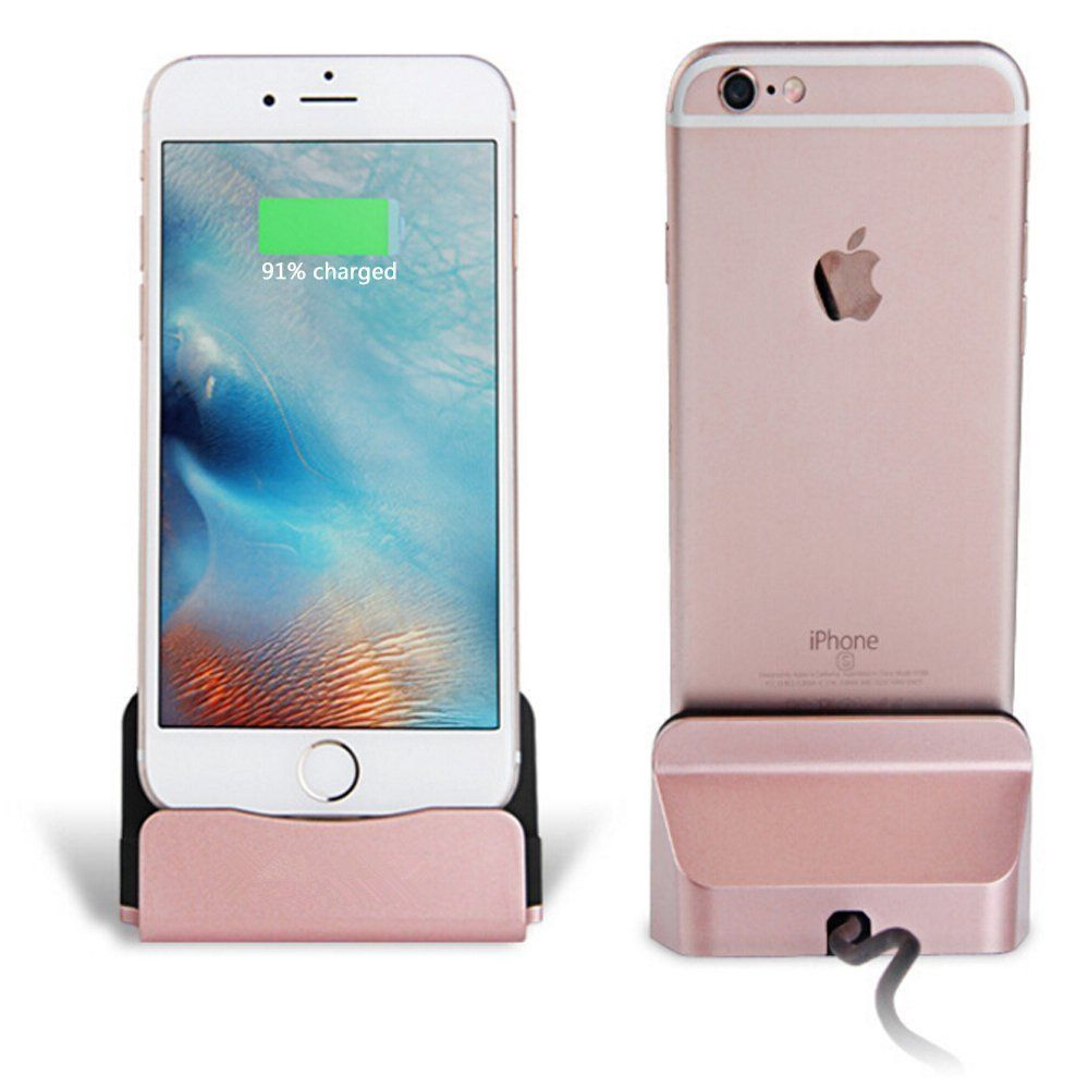 Eximtrade Chargeur Dockstation Station D Accueil Support Pour Apple Iphone 5 5s 6 6s 6 Plus 6s Plus 7 7 Plus Ipod Or Rose
