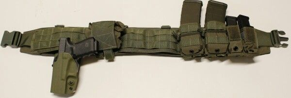 "50/"" Adjustable Camo TACTICAL BELT Gun Holster Magazine Pouch Combat Duty Police"