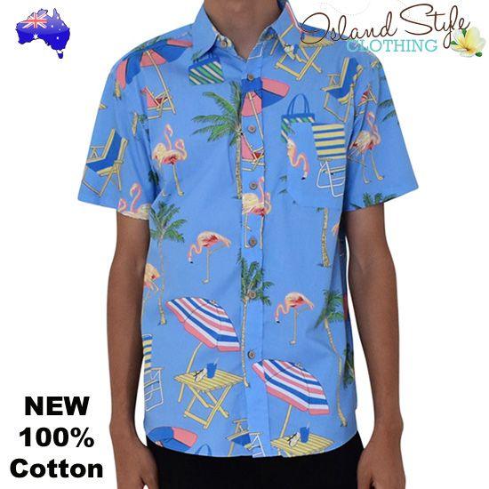 6ec2996f14610e Popular Flamingo Hawaiian Shirts - Features Flamingos, Palms, Umbrella and  deckchairs - super summer shirts. More flamingo shirts instore soon.