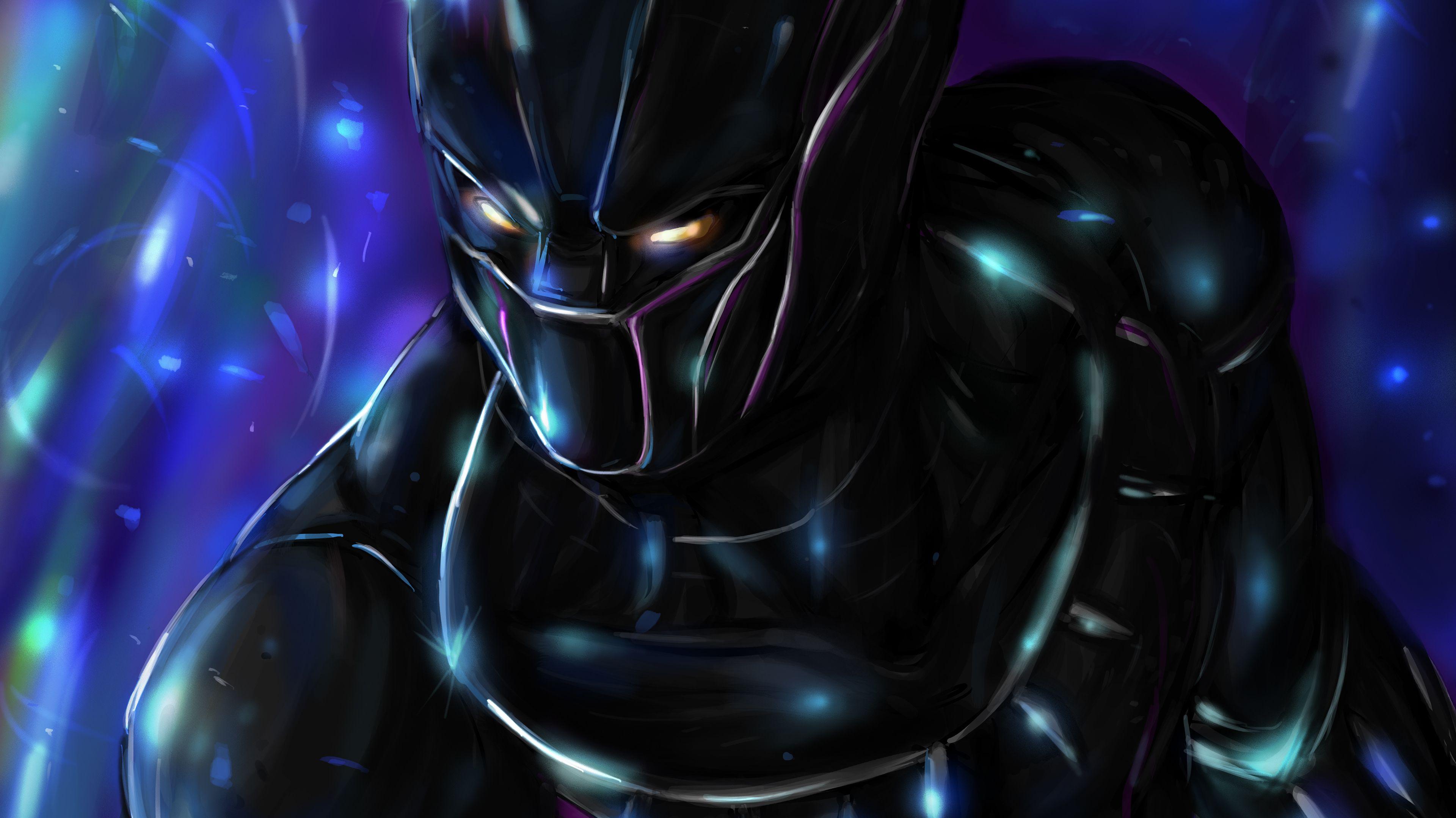 Black Panther 4k Artworks Superheroes Wallpapers Hd Wallpapers