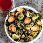 Roasted Brussels Sprouts Recipe (Honey Sriracha) #buffalobrusselsprouts Roasted Brussels Sprouts Recipe (Honey Sriracha) - Chew Out Loud #buffalobrusselsprouts
