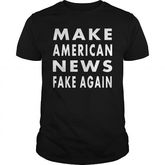 Awesome Tee Make American News Fake Again - No Alt Facts Shirts & Tees