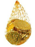 Gold chocolate coins for hunting, loot bags or as prizes