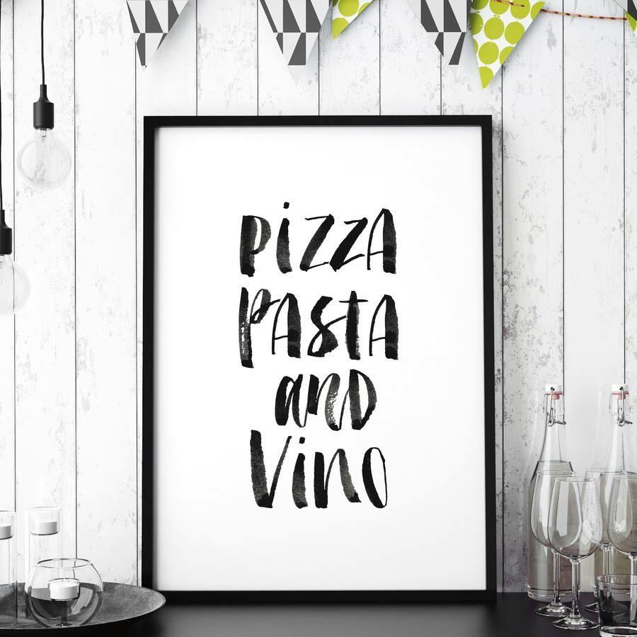 Pizza, pasta and vino http://www.notonthehighstreet.com ...