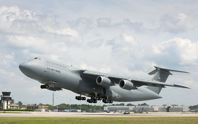 2nd Production C 5m Super Galaxy Takes Flight Fighter Jets Fighter Aircraft Gunship