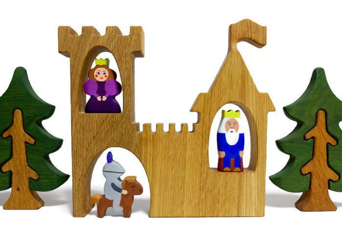 WALDORF Play set Kingdom King toy Princess toy Knight toy Learning Toys Wooden Tree Figurines Toys for toddlers Christmas gift idea by WoodenCaterpillar on Etsy