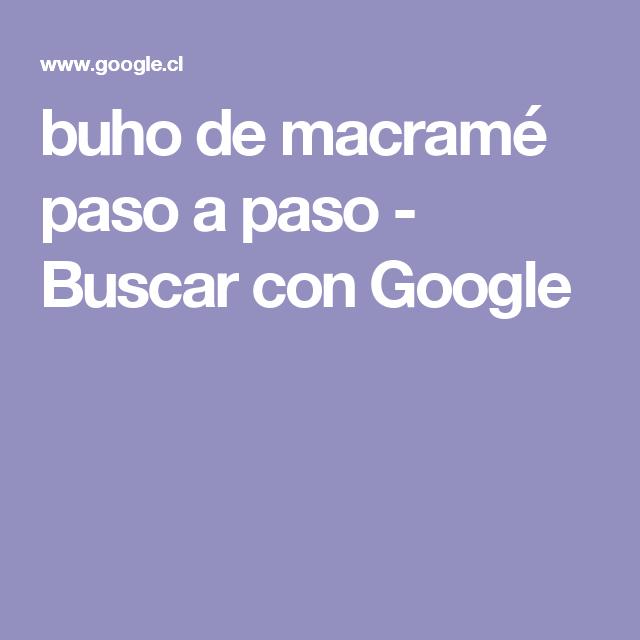 buho de macramé paso a paso - Buscar con Google | Peinado ...