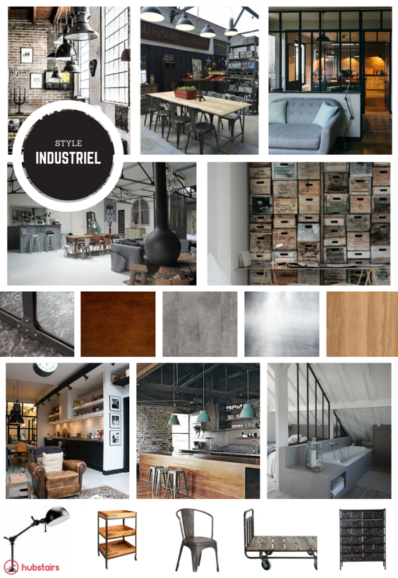 planche tendance style industriel le style industriel s. Black Bedroom Furniture Sets. Home Design Ideas