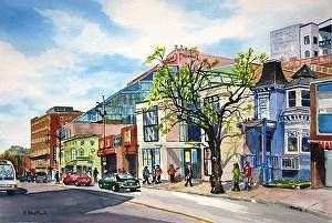 Spring Garden Road by Pat Shattuck in the FASO Daily Art Show