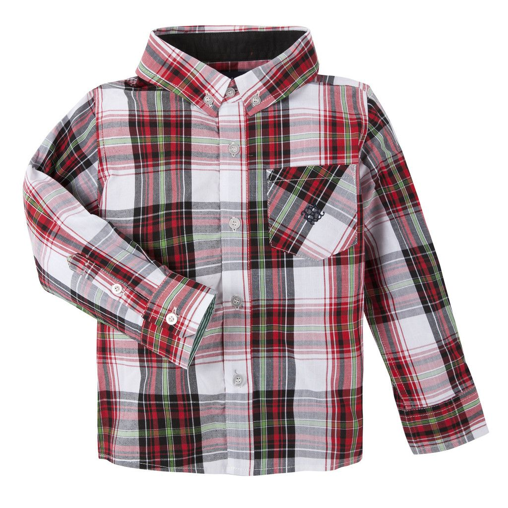 Red Christmas Shirt by Andy & Evan for boys.