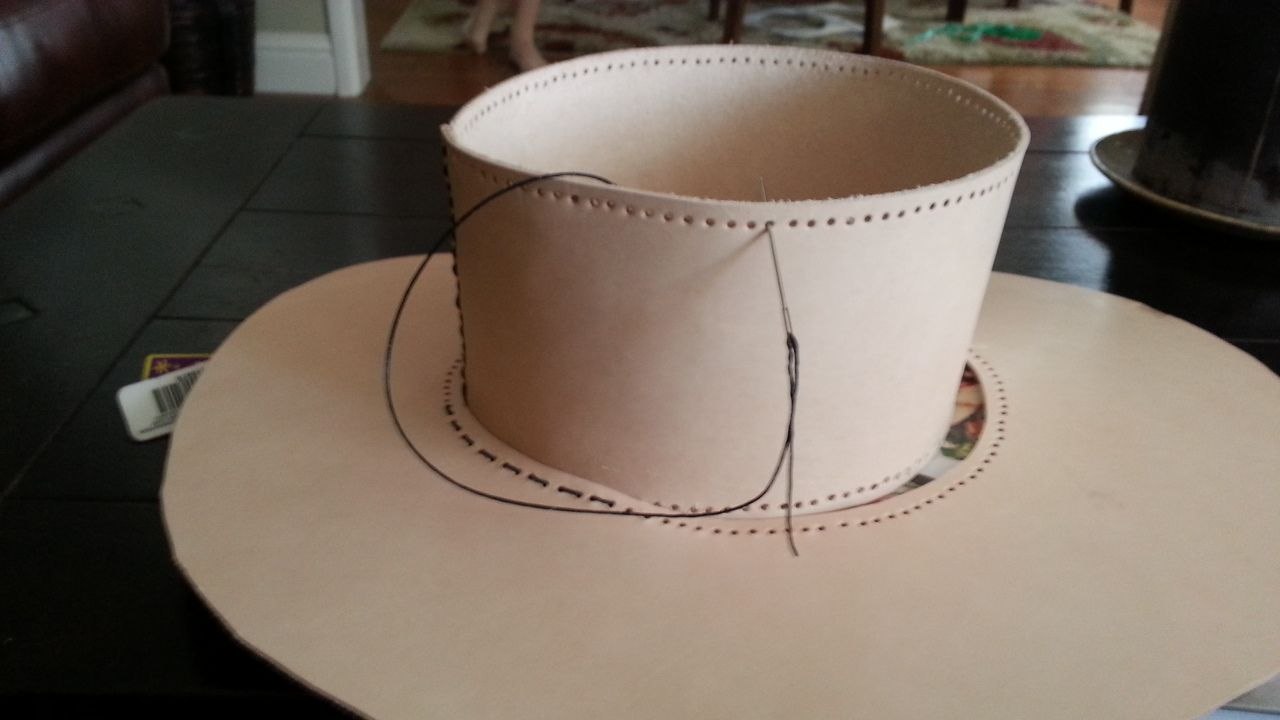 How To Make A Leather Cavalier Hat Leather Diy Leather Hats