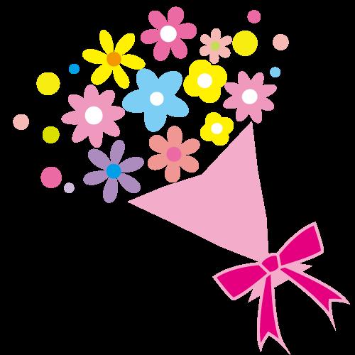 花束イラスト カード 手作り 手作りカード デザイン 卒園 アルバム 手作り