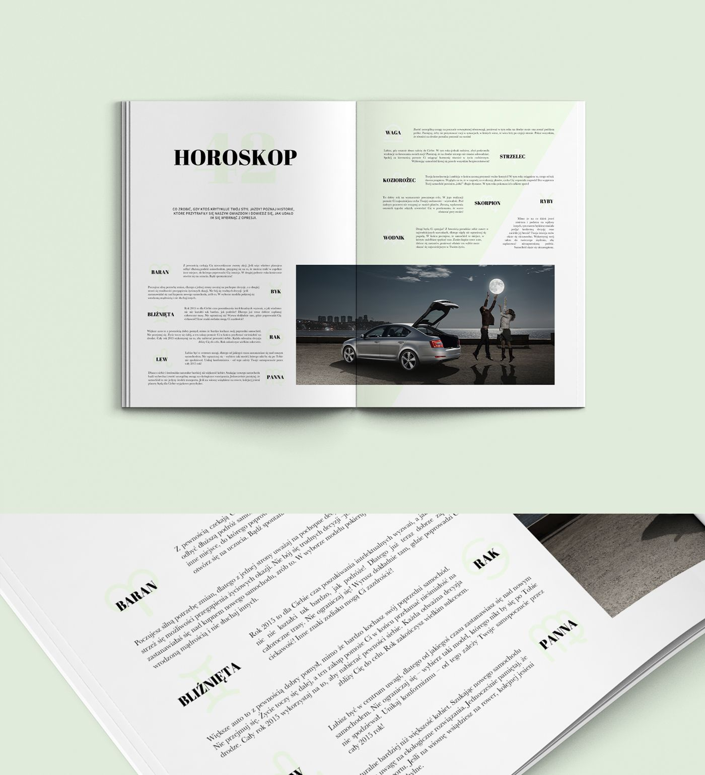 Road Magazine - Graphic Design - Editorial Design, Magazine Spread, Women, Cars, Driving, Clean, Plentiful Whitespace, Typographic