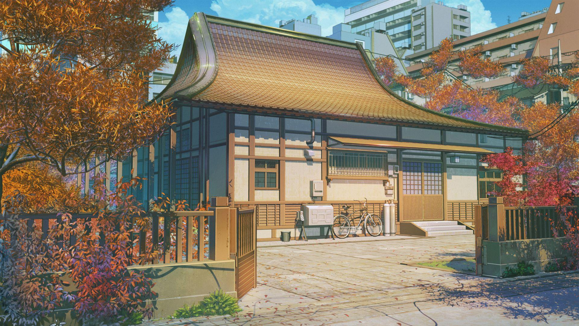 Old House Original Art By Arsenixc 1920x1080 Anime Scenery Wallpaper Japanese Mansion Anime Scenery