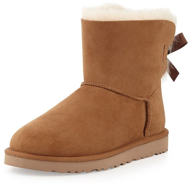 UGG Mini Bailey Bow-Back Boot ($105) ❤ liked on Polyvore featuring shoes