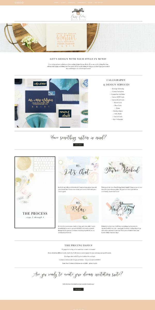 Custom Modern And Artistic Website Design By Kristen Fulchi Design Studio Simple Mini Web Layout Inspiration Custom Website Design Website Design Inspiration