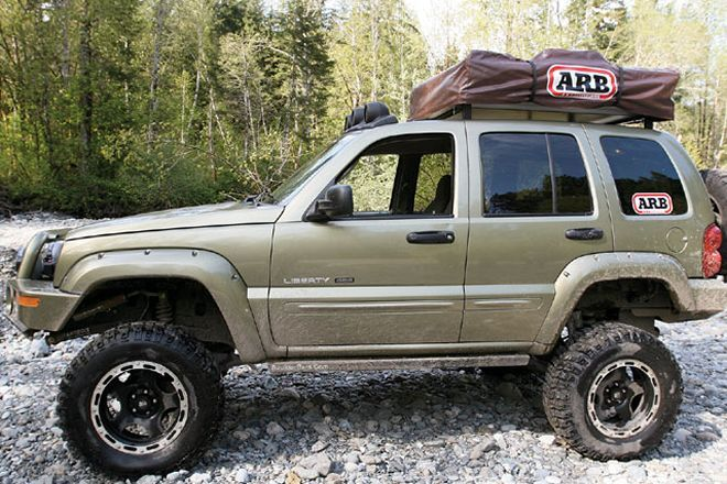 Read About The Customized Jeep Liberty Kj Features Arb Deluxe Bull Bar Bumper Jeep Liberty Jeep Military Jeep