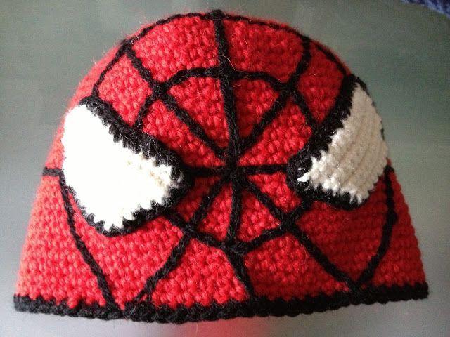 Magnífico Patrón De Crochet Libre Para El Sombrero Del Hombre Araña ...