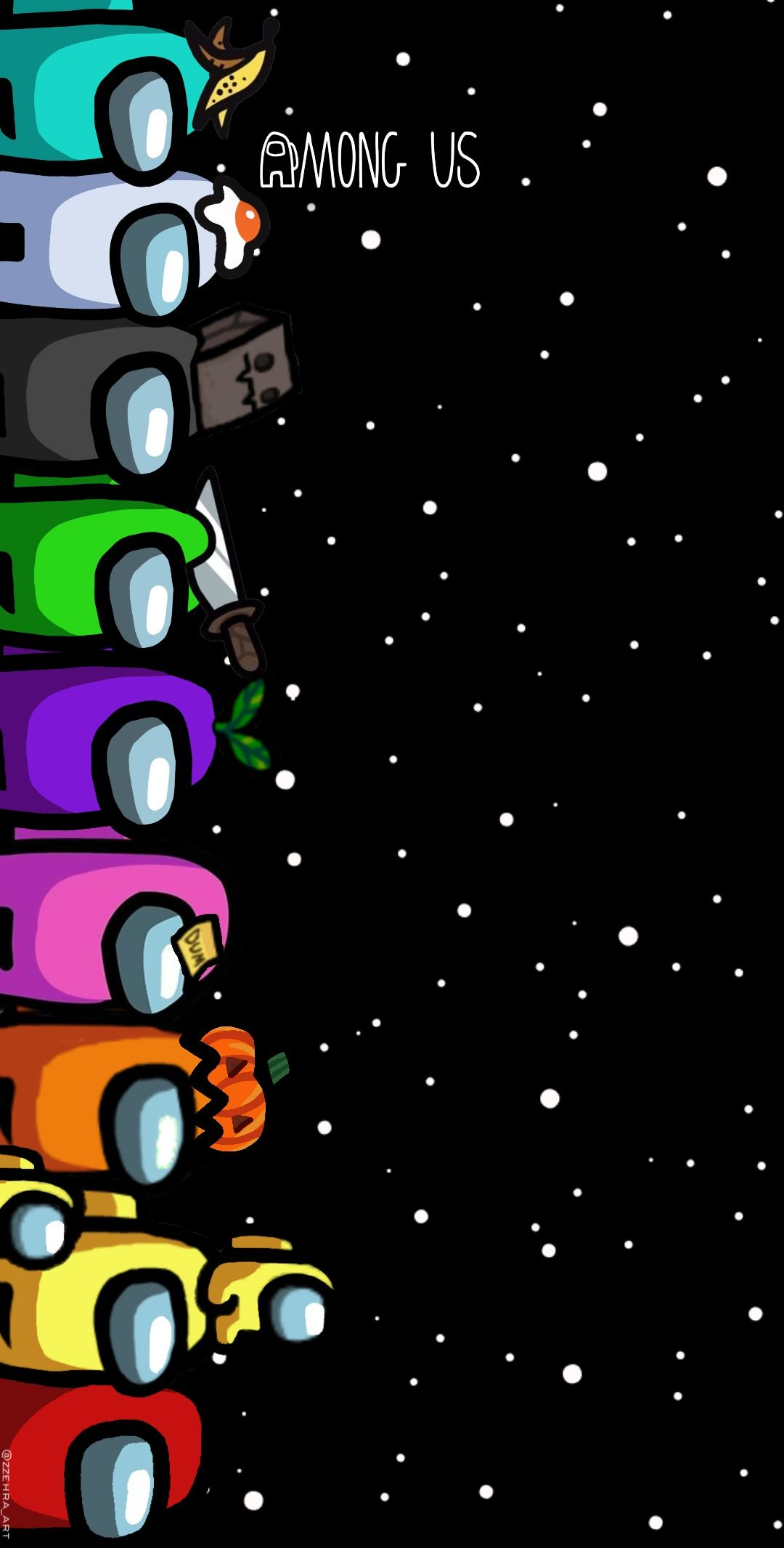 Freetoedit Amongus Game Wallpaper Black Remixed From Zehra Art Cool Backgrounds Wallpapers Wallpaper Iphone Cute Cute Christmas Wallpaper
