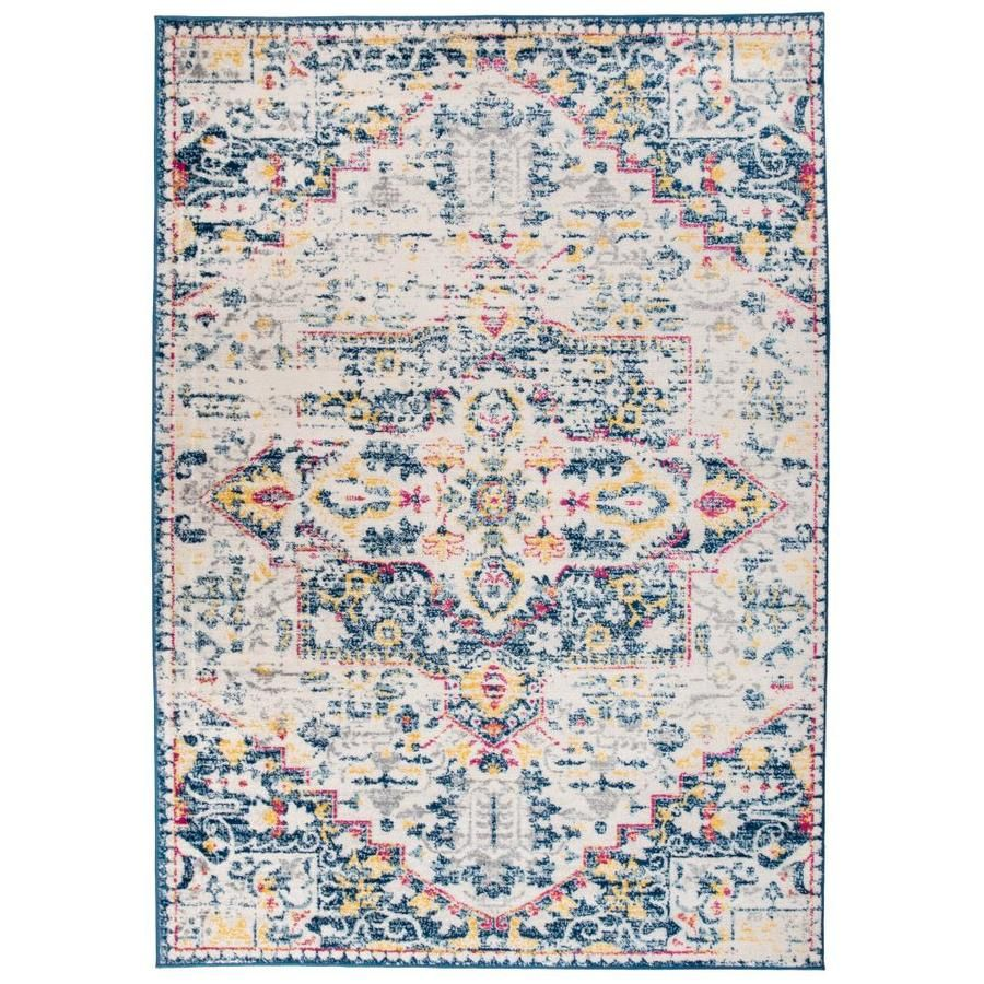 World Rug Gallery Irvine Cream Indoor Bohemian Eclectic Area Rug Common 8 X 10 Actual 7 1 Ft W X 10 Ft L 725cream8x In 2020 Rugs Gallery Home Decor Styles