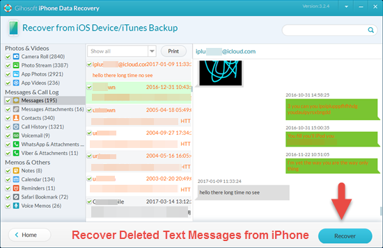 4 Ways To Recover Deleted Texts On Iphone Ios 13 Supported