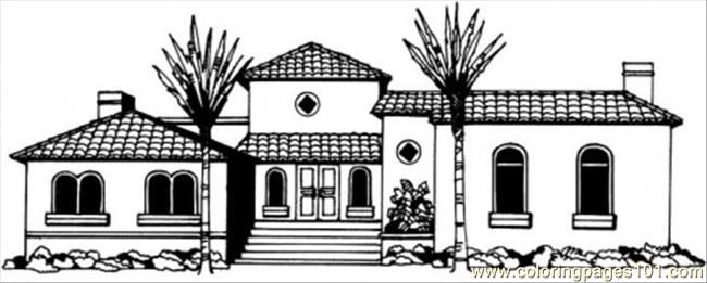 Coloring Pages Of House. Beautiful Cottage coloring page for kids and adults from Architectures  pages Houses Coloring Page COLORING PAGES HOUSES