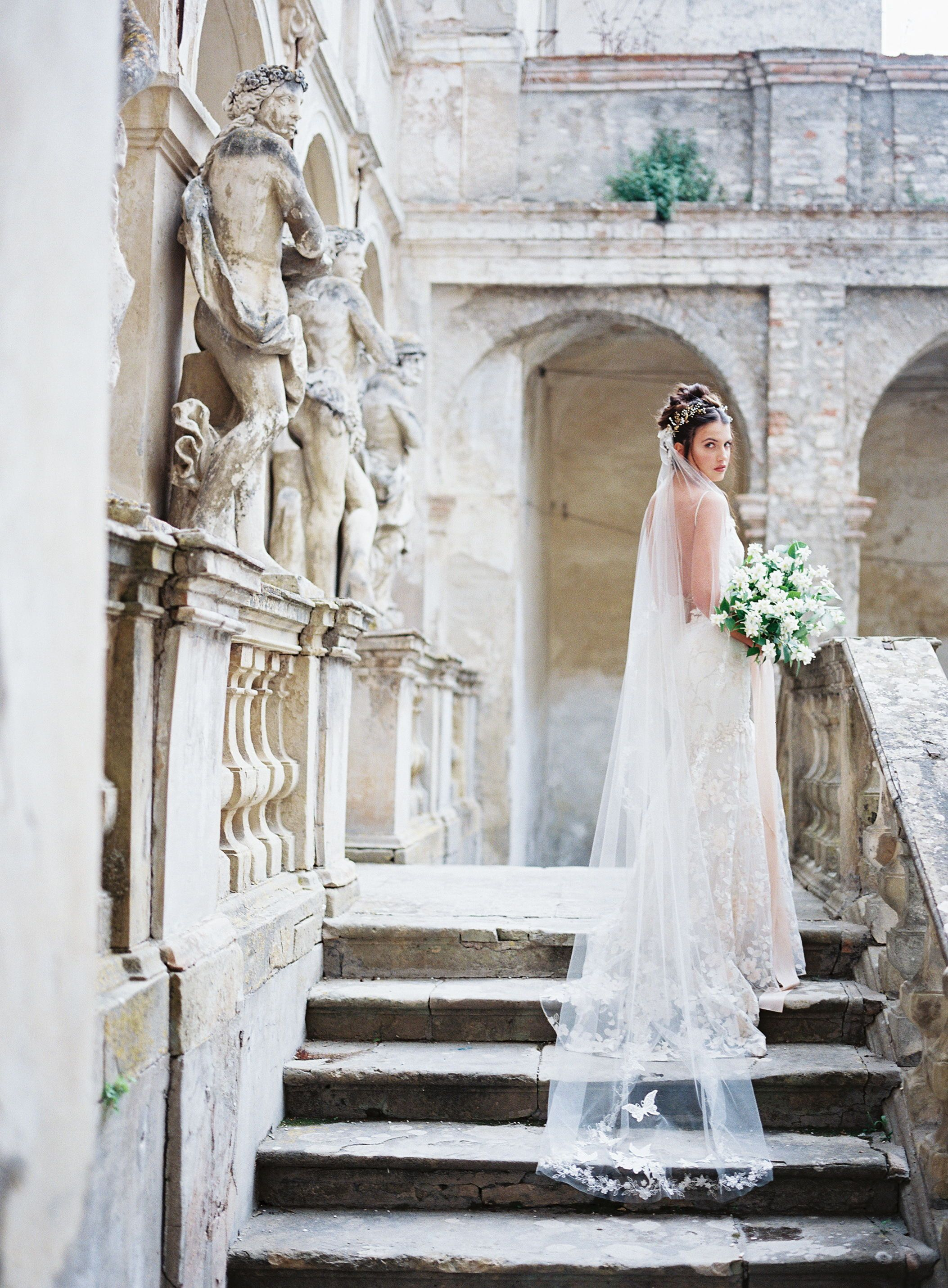The claire pettibone tulle butterfly veil and april embroidered