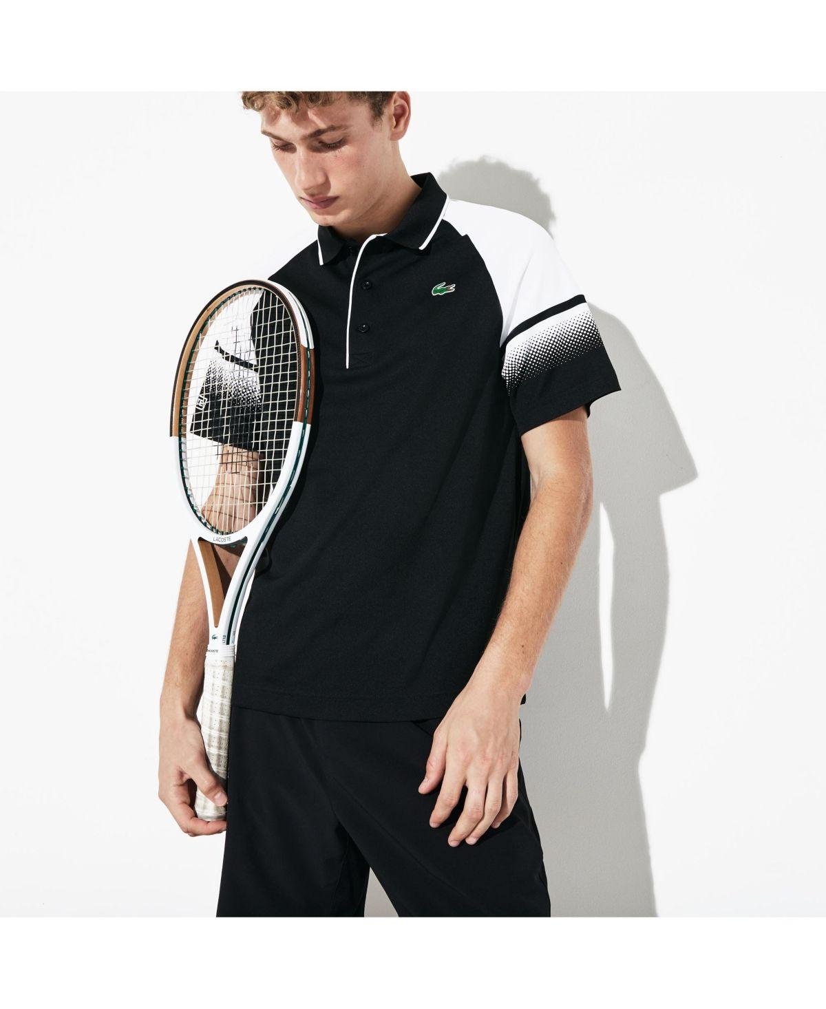 Lacoste Men S Sport Ultra Dry Gradient Polo Shirt Black Lacoste Men Lacoste Sport Lacoste